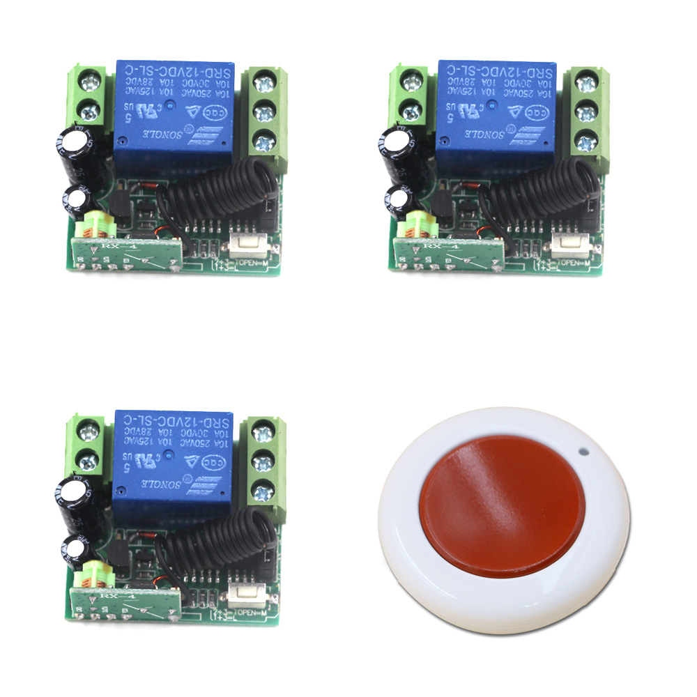 DC 12V 10A Wireless Remote Control Light Switch 1CH Mini Relay Receiver RF Remote Controller Switch Transmitter dc 12v 24v wireless remote control switch system remote controller rf radio control switch 1ch 10a relay receiver transmitter