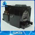 Бесплатная доставка замена лампы проектора TLPLV8 для TDP-T45 TDP-T45U