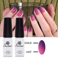 Saviland 2Pcs Thermal Gel Vernis Temperature Change Colors Nail Glaze UV Gel Nail Polish Kit Varnish Change Mood Nail Glue