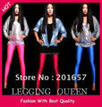 Wholesale and Retail fashion bright fluorescent stretch legging solid color girl's night queens legging 90cm long