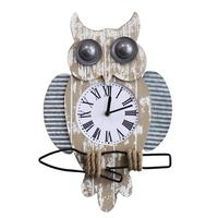 Wall Clock Owl Clock Watch American Country Style Wall Clocks Wall Ornament Decoration Wooden Material Creative High Quality