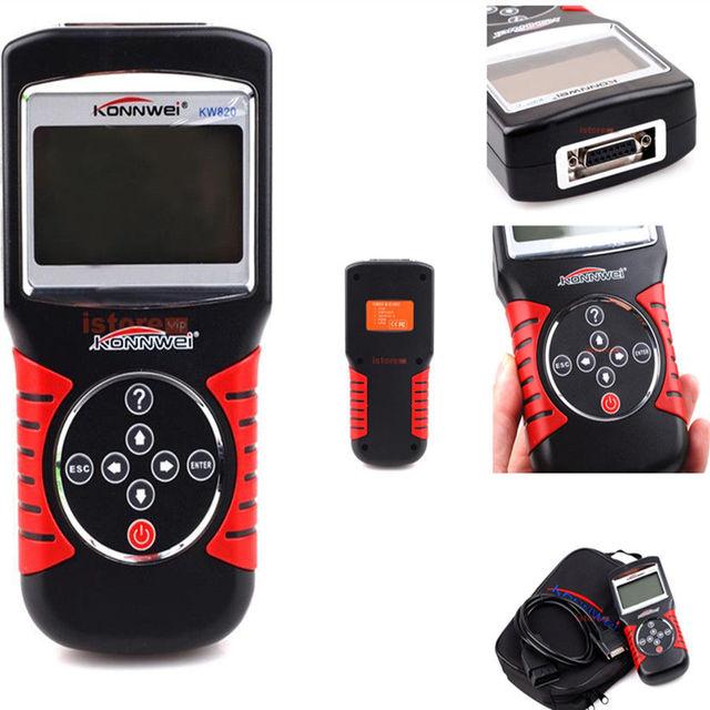 KW820 KONNWEI Scanner de Carro OBD EOBD OBDII 2 Carros/Veículos Ferramentas de Scanner de Diagnóstico Do Motor Code Reader & Scan Tool
