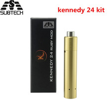 SUB TWO kennedy 24 kit e cigarette kennedy 24 ruby Mechanical mod with RDA atomizer 24mm diameter box Mod tank vapor pen kit