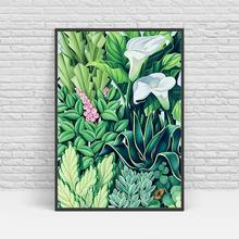 Green Leaf Flowers Home decoration posters