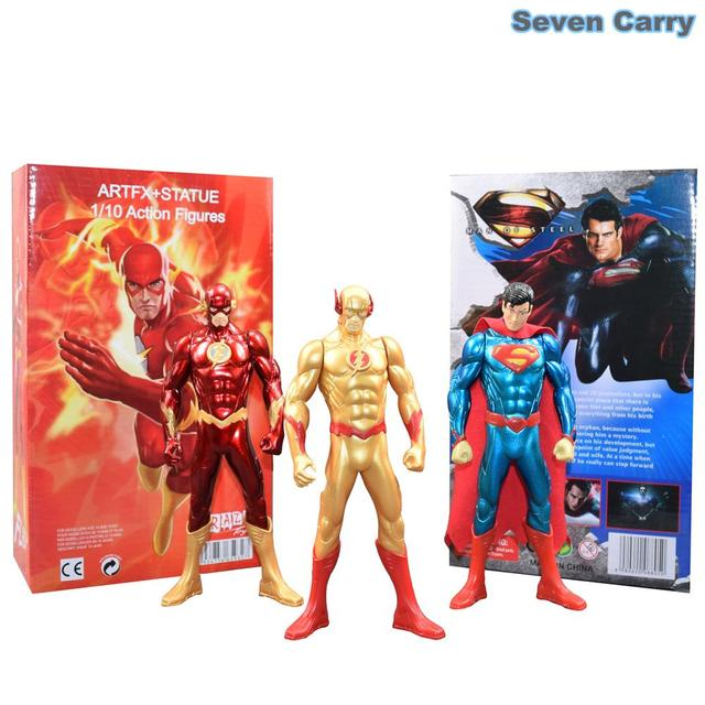 "7 ""18 CM de Super-heróis da DC Comics The Flash Superman POP PVC Action Figure Collectible Modelo Presentes de Natal Da Liga Da Justiça brinquedo"