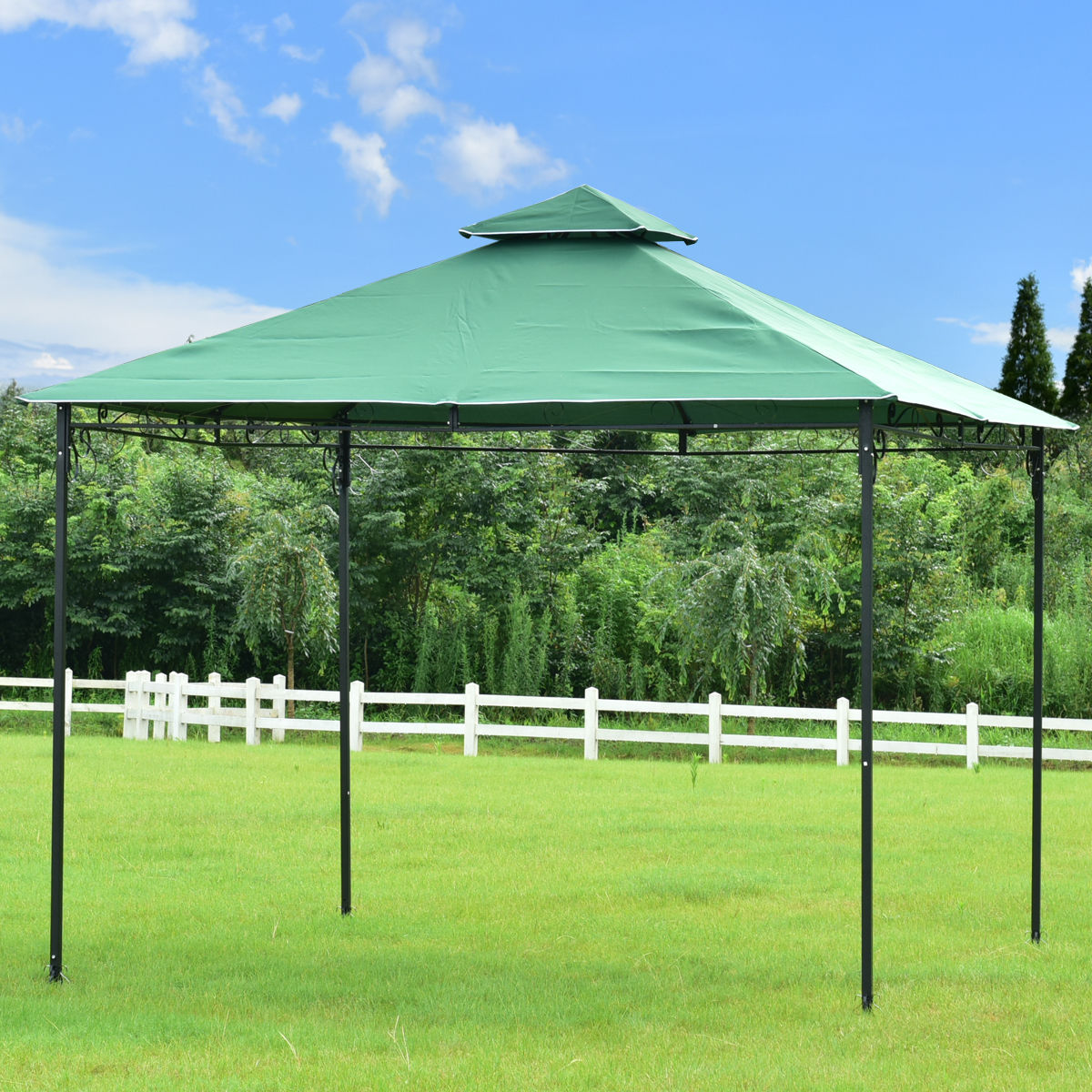 Goplus 2 Tier 10 X10 Gazebo Canopy Shelter Patio Wedding