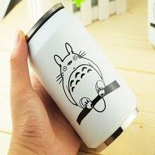 300 ML Thermos Kreative Cartoon Totoro Stroh Saugnapf Edelstahl Thermosbecher Thermische Flasche thermobecher Isolierflaschen