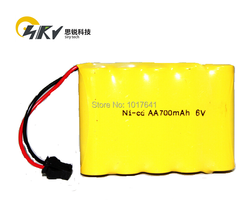 6v Nicd Aa 700mah Toy Battery Pack With Sm Connector For Remote
