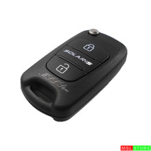 Remote Flip Folding Key Shell Case 3 Buttons Fit for Hyundai SOLARIS Keyless Entry Fob Cover Car Alarm Housing