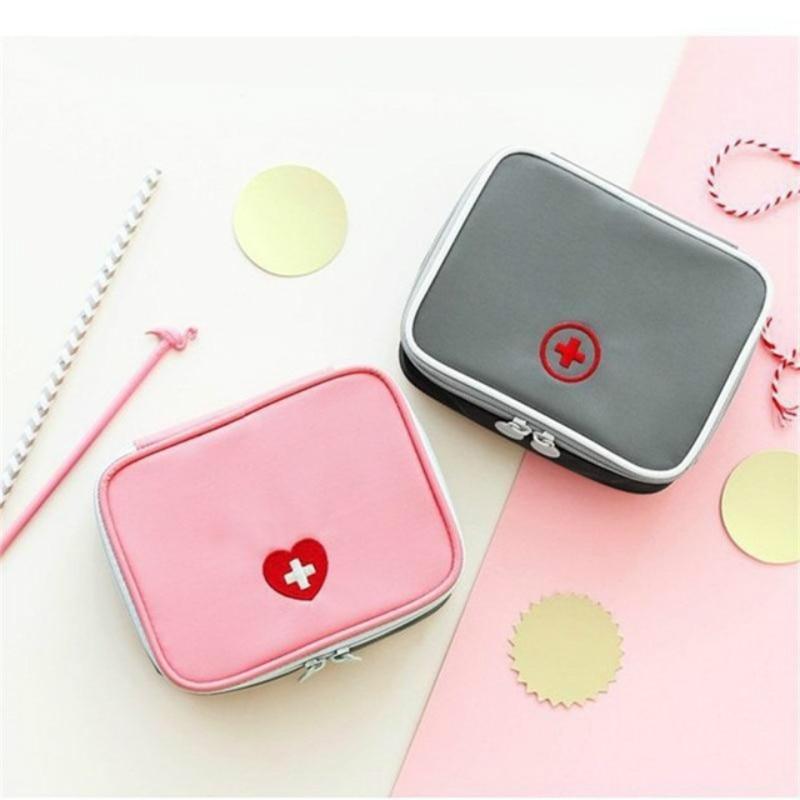 13*10*4cm Cute Mini Portable Medicine Bag First Aid Kit Medical Emergency Kits Organizer Outdoor Household Pill Bag