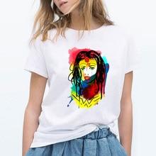 86dce653 2019 Women tshirt Summer Wonder Woman print Short Sleeve T-shirt 100%  Cotton Pop