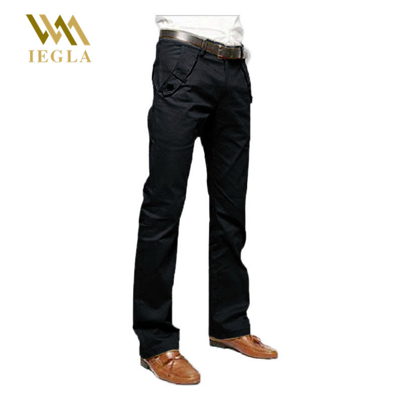 Mens Pants New Casual Designer Slim Pant Man Work Business Trouser Straight Dress Pants Male Black Gray Long Trousers
