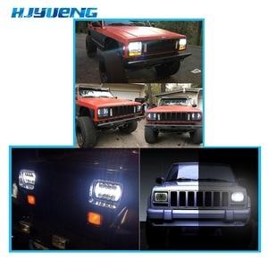 Image 5 - 5X7 pulgadas 85W h4 bombilla de faro LED 7x6 pulgadas faro DRL para Jeep Wrangler YJ XJ camión FLD Firebird Celica 240SX 7 pulgadas lámpara led
