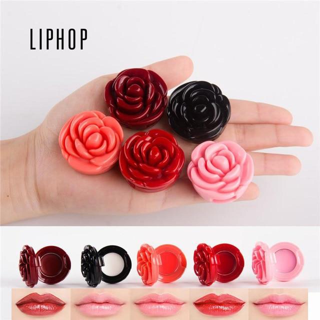 2017 Moisturizer Lipstick Rose Flower Shape Lips Makeup Nutritious ...