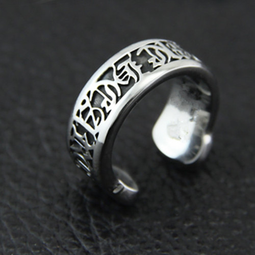 2015 New Design 925 Sterling Silver Cuff Ring Letters Adjustable Women Personalized Handmade Jewelry - Claire Store store