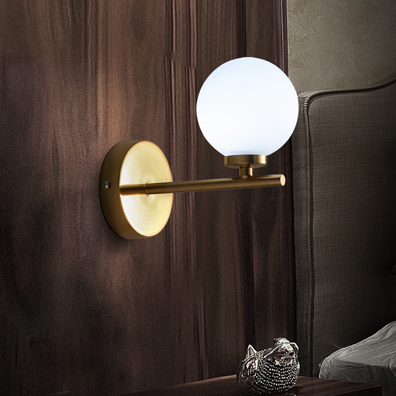 Nordic Modern Brief Fashion Personally Round Glass Led Wall Sconce Lamp Bathroom Mirror Bedroom Home Decor Lighting Fixture fashion letters and zebra pattern removeable wall stickers for bedroom decor