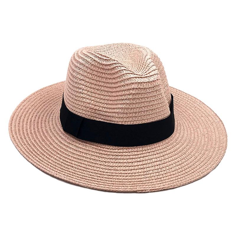 26 Chapeau paille Panama décontracté large bord été