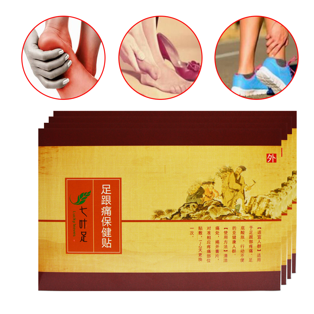 5 Pcs 100% Chinese Herbal Calcaneal Spur Rapid Heel Pain Relief Patch Foot Care Patch Tendinitis Foot Care B116