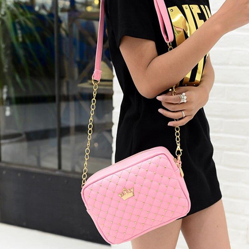 Arsmundi 2020 Fashion Women Handbag Rivets Diagonal Small Shoulder Bag Starry Female Bag Crown Lady Crossbody Flap Evening Bags