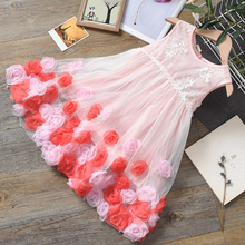 Baby Girl's Summer Clothes Kids Tutu Birthday Princess Party Fancy Dress for Girls Children Bridesmaid Elegant Dress for Girl