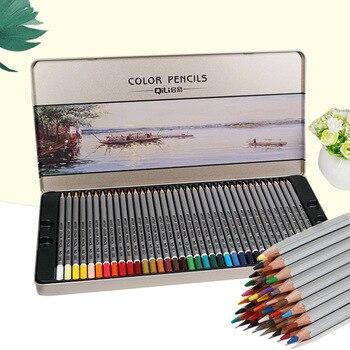 72 цвета, цветные карандаши для рисования, железные в коробке, скетчи для рисования с номером, школьные принадлежности, тайные карандаши для ...