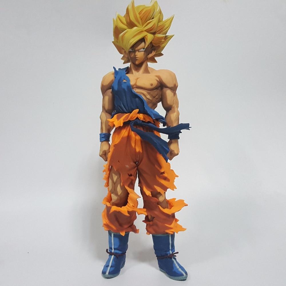 28 5 16 De Réduction Dragon Ball Z Figurines Son Goku Super Saiyan Dessin Animé Couleur Anime Dragon Ball Z Jouet Dbz à Collectionner Modèle Jouets