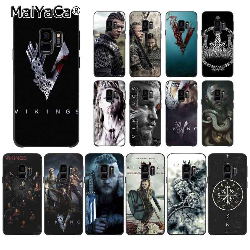 Чехол для телефона MaiYaCa Ragnar Lothbrok Vikings серии для samsung Galaxy S9 plus S7 edge S6 S10Plus S10lite S10E S8 plus