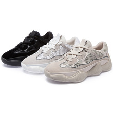 Zhenwei White Sneakers Woman Shoes Couple Sports Running Sewing Lace Up Mesh Chunky Athletic Easy Walking Daddy