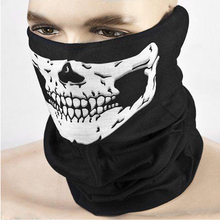 Black Motorcycle Multi Function Halloween Skull Skeleton Party Masks Headwear Hat Scarf Neck Scary Sport Face Winter Ski Mask