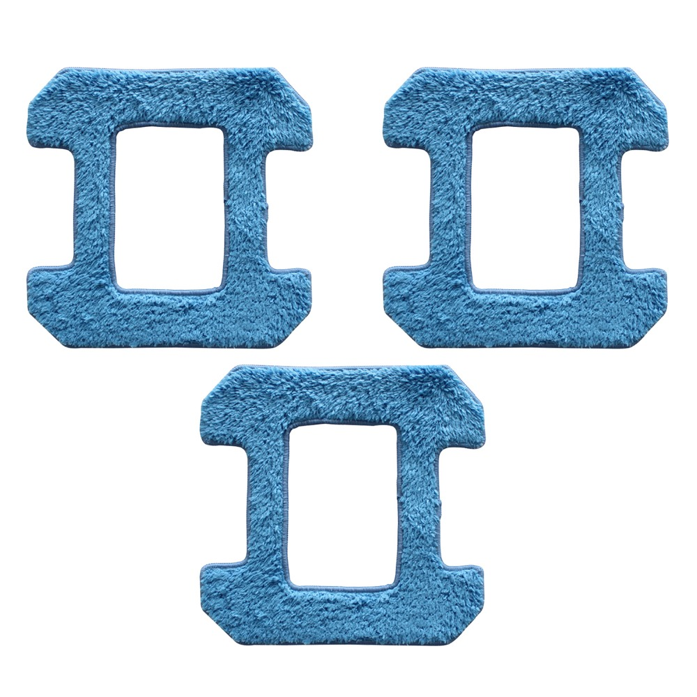 3pcs dry mop for hobot 268 288 Robot X6 window clean mop cloth weeper glass windows cloth Cleaner Parts 12pcs lot high quality robot vacuum cleaner wet mop hobot168 188 window clean mop cloth weeper vacuum cleaner parts
