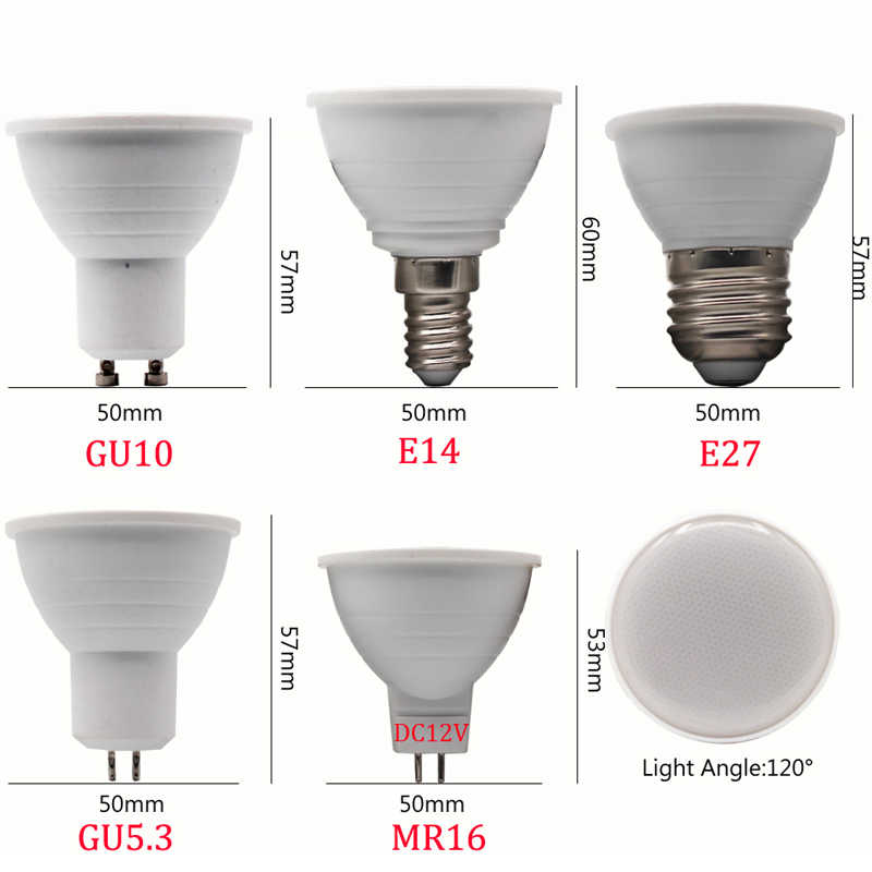 1 шт./лот высокое качество E27 E14 MR16 GU5.3 GU10 лампада светодиодный лампы 9 W 220 V Светодиодный светильник прожектор лампары пятно света
