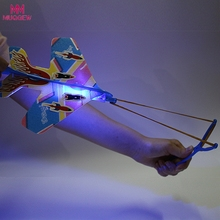 DIY Flash Ejection Cyclotron Light Plane Slingshot Aircraft For Kids Gift Toys brinquedos brinquedo menino magic