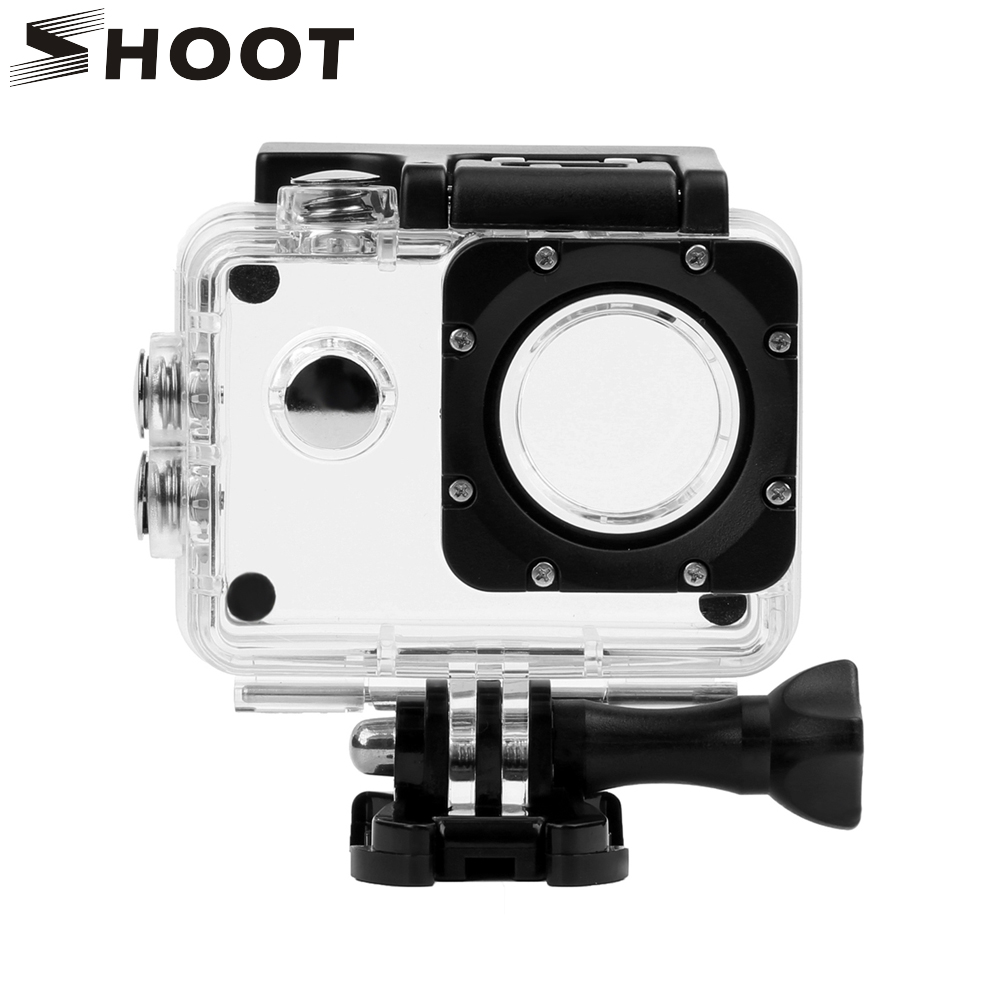 SHOOT for Sjcam Accessories Underwater Waterproof Case for Sjcam Sj4000 Sj7000 Action Camera Housing Case for Sjcam Accessories transparent plastic waterproof dive housing case underwater cover for sj4000 sports camera camera accessories