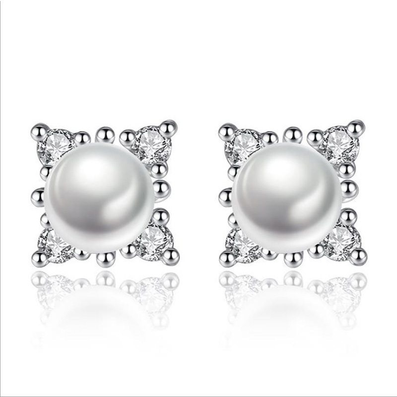 Genuine Fashion Pearl Earrings High Quality 925 Sterling Silver Earrings Pearl Jewelry For Women Party Gifts 1Y198