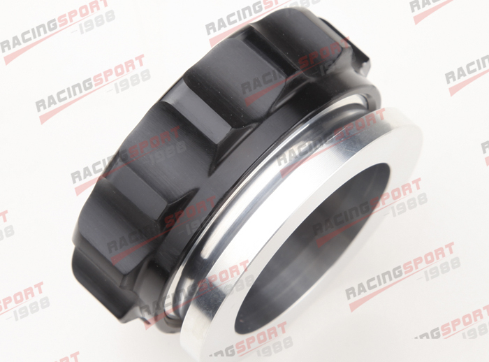 376.2mm Aluminium Alloy Weld On Filler Neck And Cap Oil, Fuel, Water Tank BLACK