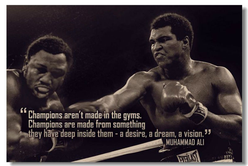 Ali Muhammad Motivierend Inspirational Erfolg Poster ...