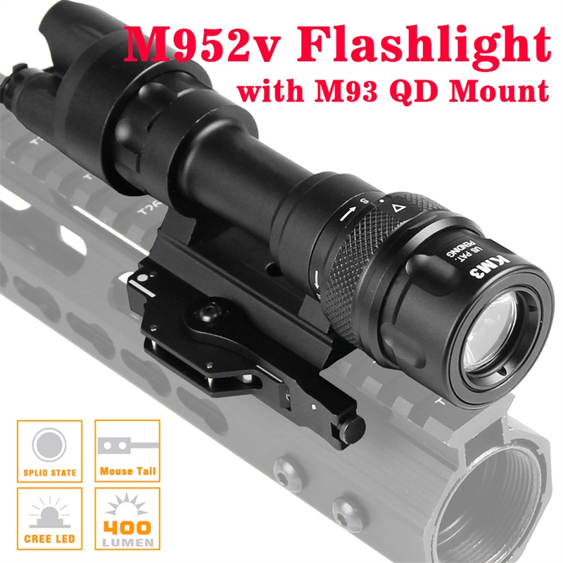 M952 Tactical Light Picatinny QD Mount LED Weapon Light  Flashlight Constant Momentary White Output for Rifle And SMG 8-0020M952 Tactical Light Picatinny QD Mount LED Weapon Light  Flashlight Constant Momentary White Output for Rifle And SMG 8-0020