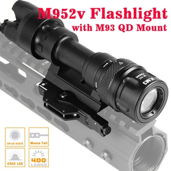 M952 Tactical Light Picatinny QD Mount LED Weapon Light  Flashlight Constant Momentary White Output for Rifle And SMG 8-0020