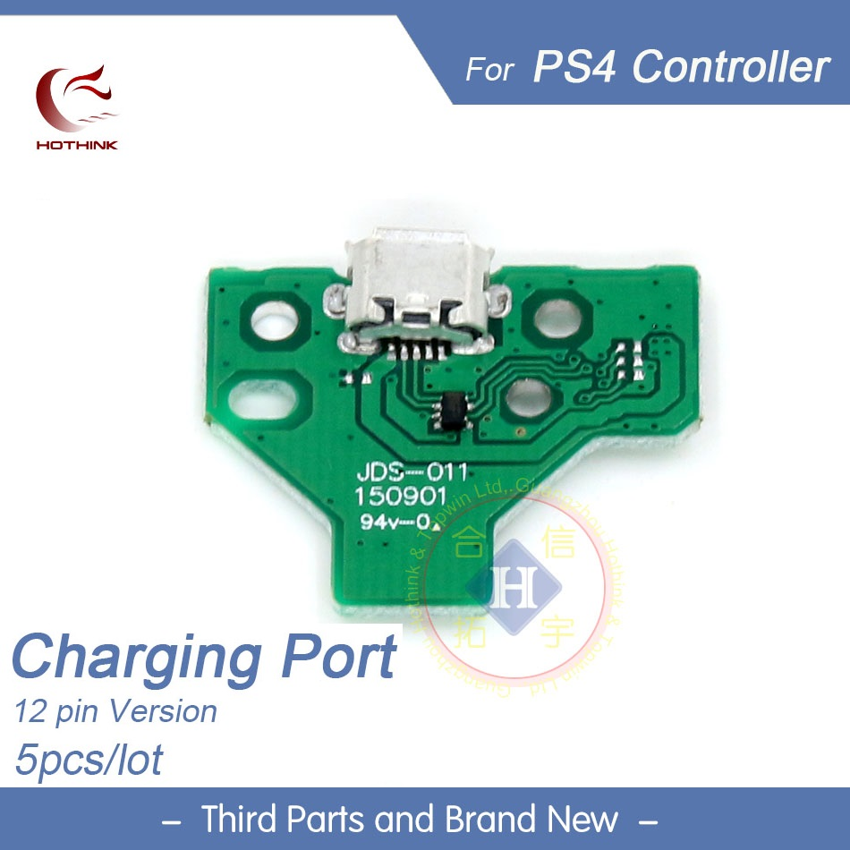 HOTHINK 5pcs/lot 12 pin Charging port JDS-011 PCB Board micro USB Repair Parts For PS4 Playstation 4 Controller replacement