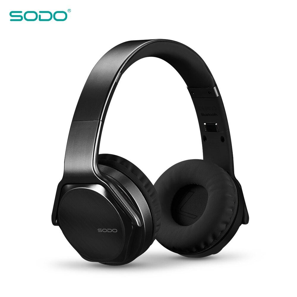 Original SODO MH3 NFC 2in1 Twist-out Bluetooth haut-parleur casque sans fil casque sur l'oreille sport magique sans fil écouteur