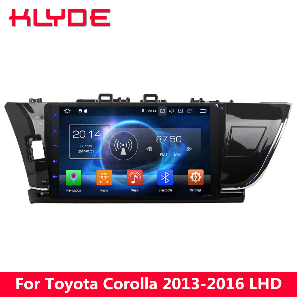 KLYDE 10.1 IPS 4G Octa Core 4GB+32GB Android 8.0 7.1 6 Car DVD Multimedia Player Stereo For Toyota Corolla 2013 2014 2015 2016