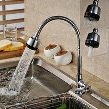 Палуба Крепление Одной Ручкой Гибкий Шланг Двойной Сопла Распылителя Кухонный Кран Холодной Воды Кухонный Кран