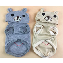 Cotton Bear Suit Hoodies for Small Dogs