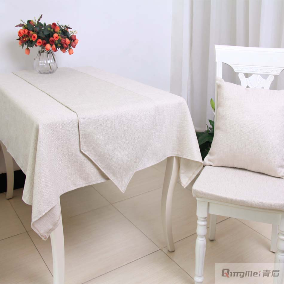 Pure simple modern table cloth tablecloth rectangular table cover cloth white living room table flag sales alone in tablecloths from home garden on