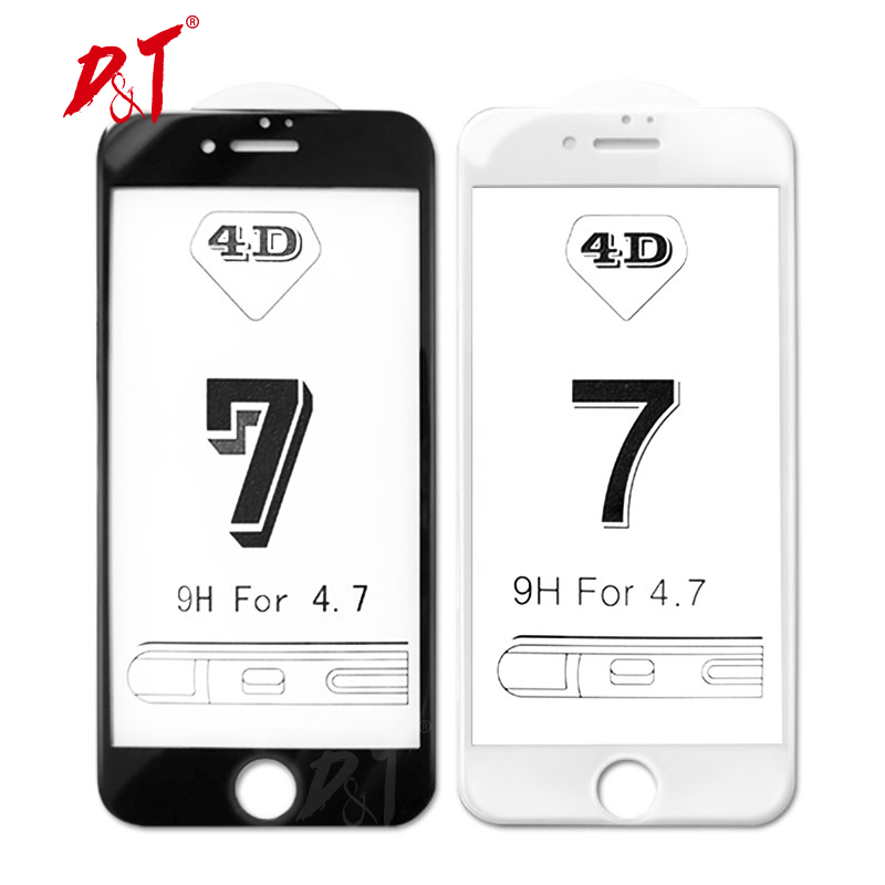 4D for font b iPhone b font 7 Plus protective glass full cover 3D Updated tempered