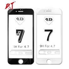 4D для iPhone 7 Plus защитное стекло полное покрытие (3D обновленный) закаленное стекло пленка для iPhone 6 6 S 6 Plus край Полный Экран крышка