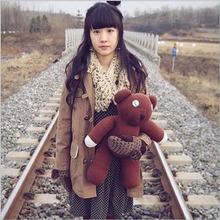 "1pcs 9"" 23cm Mr Bean Teddy Bear Animal Stuffed Plush Toy Brown Teddy Doll Children gift Retail"