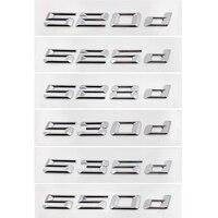Chrome naklejka dla BMW serii 5 520d 525d 528d 530d 535d 550d E28 E34 G31 F07 plastikowa cyfra i litera naklejki odznaka samochodów stylizacji w Naklejki samochodowe od Samochody i motocykle na