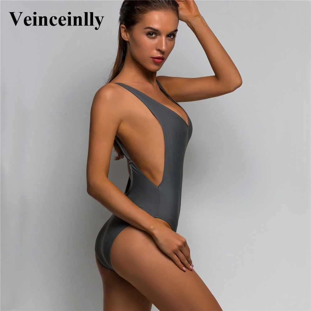 0d25fc82a6 9 color Deep V Revealing Sexy 2018 Women Swimwear One Piece Swimsuit Female  Bather Backless Bathing