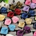 SHENNAIWEI 20 cores dos homens xadrez jacquard laços de casamento para o homem estilo bow-tie verão paisley gravata lotes por atacado a granel